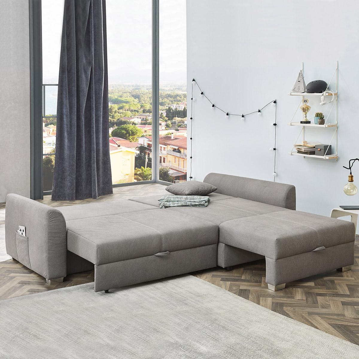 Ecksofa mit Doppel-Gästebettfunktion – Liegefläche