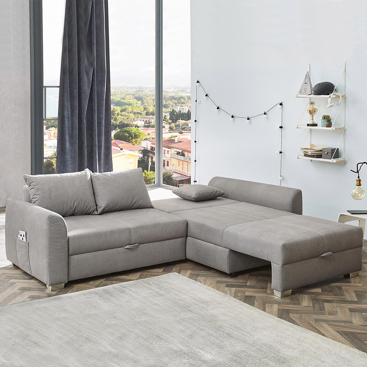 Ecksofa mit Doppel-Gästebettfunktion – Zusatzfunktion